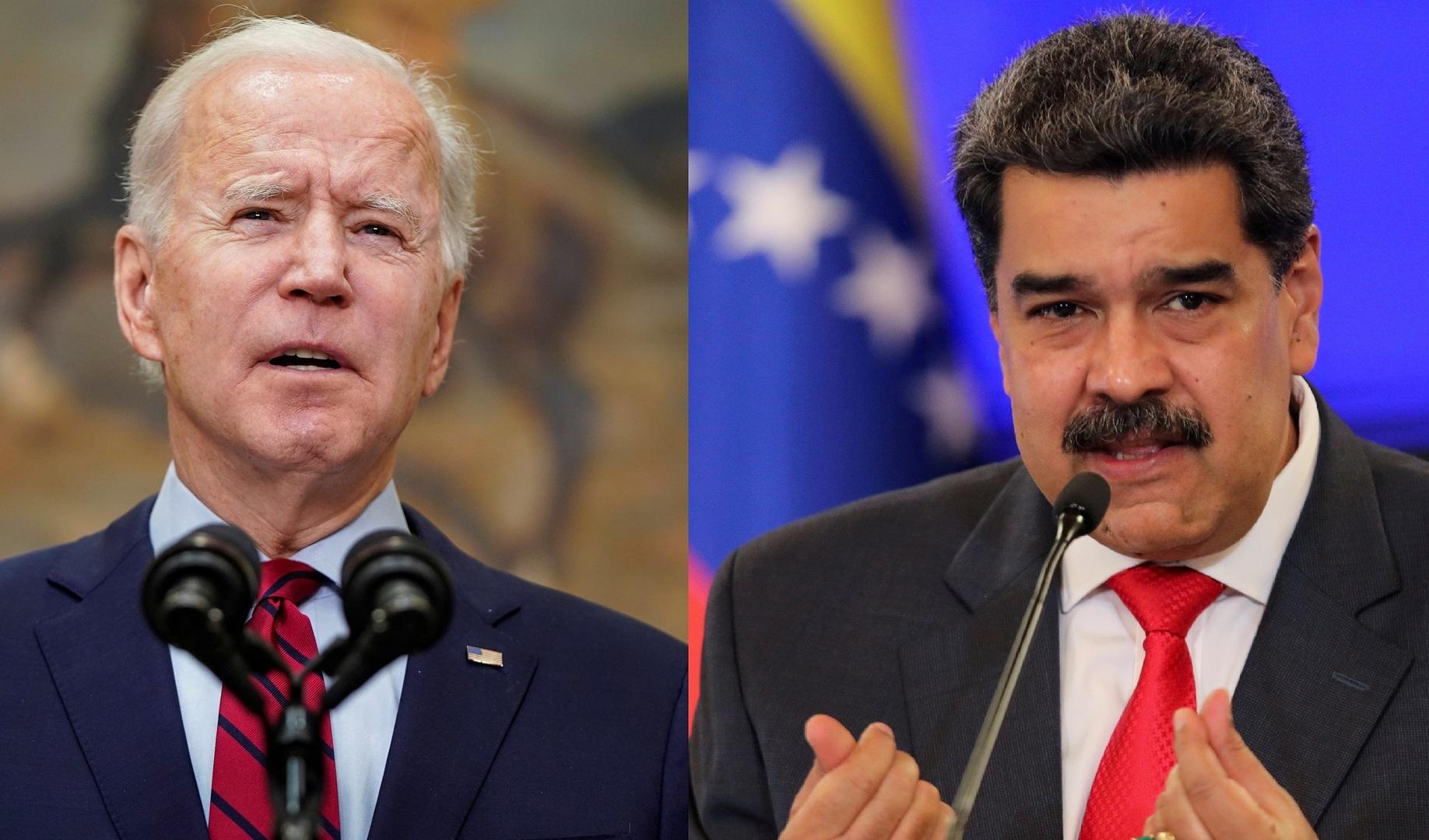 الرئيسان الأمريكي جة بايدن والفنزويلي نيكولاس مادورو