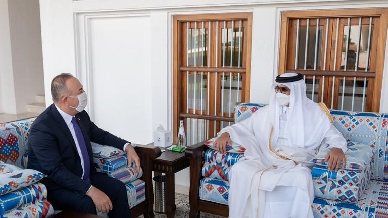 أمير قطر يستقبل وزير الخارجية التركي في الدوحة 604aabc7423604087d033198