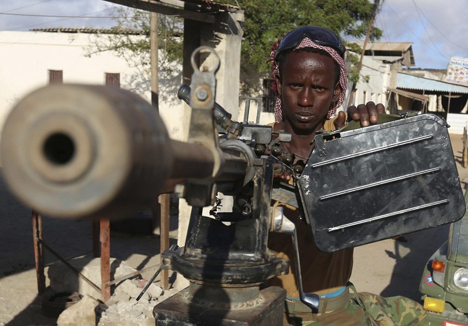 عنصر في الجيش الصومالي