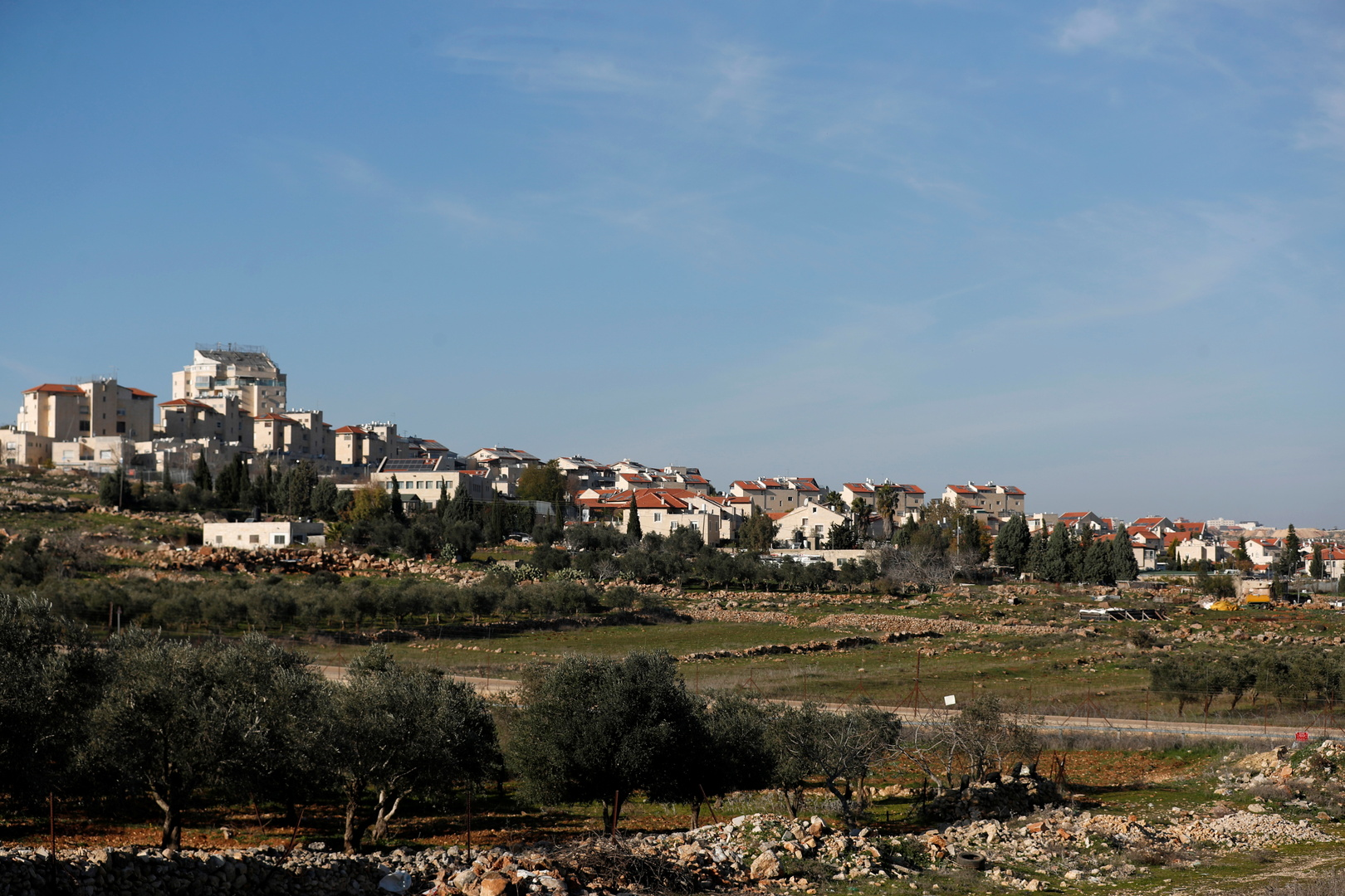 مستوطنات إسرائيلية في رام الله