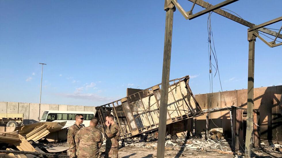 أضرار داخل قاعدة عين الأسد عقب الهجوم الإيراني