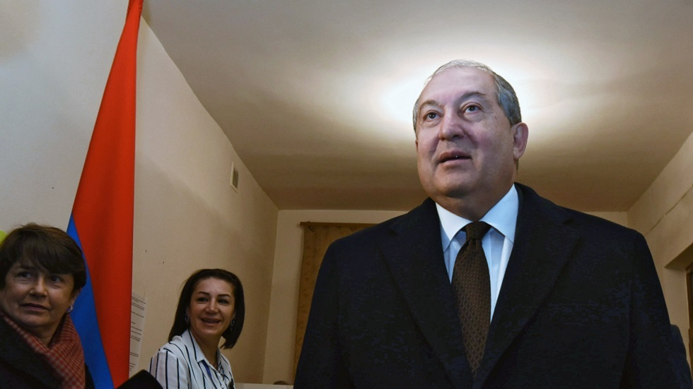 رئيس أرمنيا أرمين ساركيسيان (صورة أرشيفية)