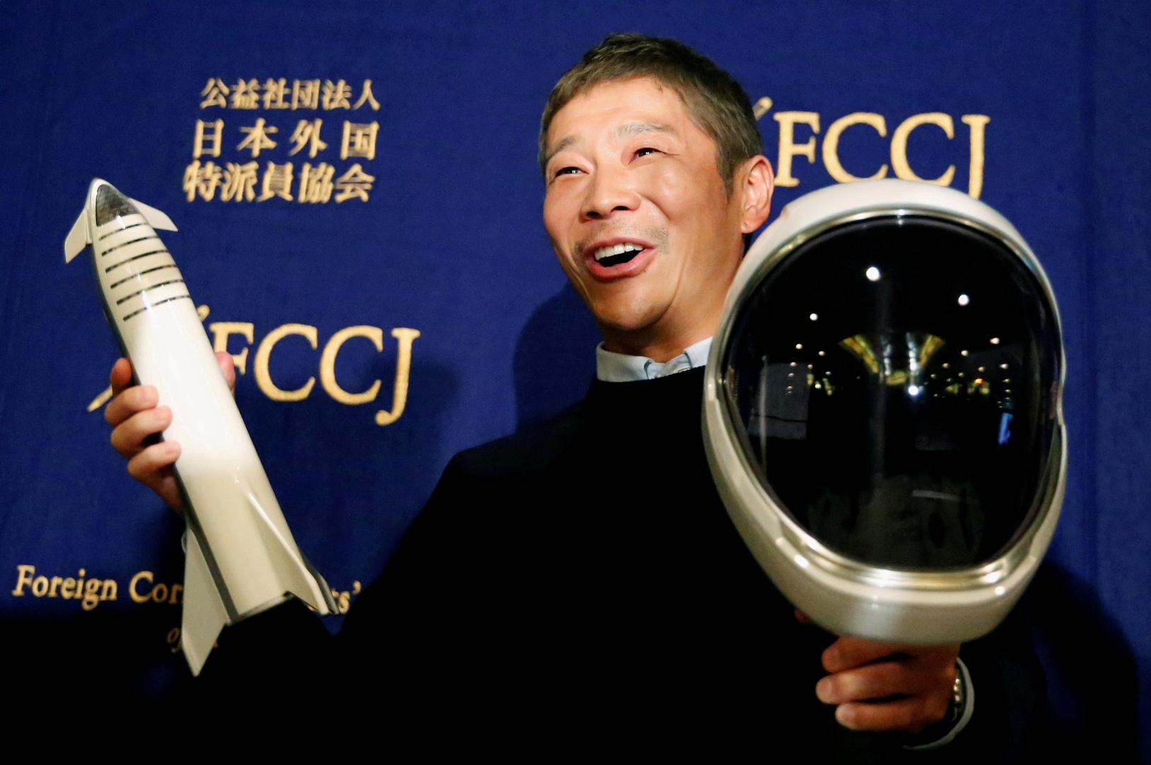 ملياردير ياباني يبحث عن 8 أشخاص من جميع أنحاء العالم يرافقونه في رحلة إلى القمر!