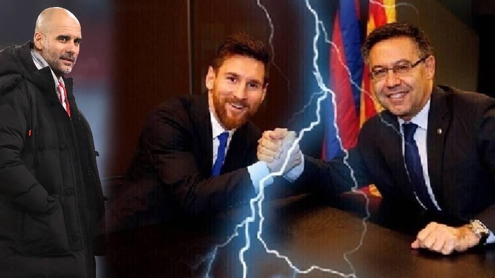 غوارديولا يعلق على أزمة برشلونة واعتقال رئيسه السابق