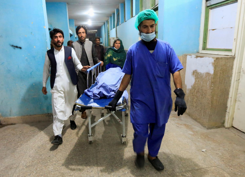 جثة واحدة من ثلاث إعلاميات قتلن، في مستشفى في جلال آباد، أرشيف