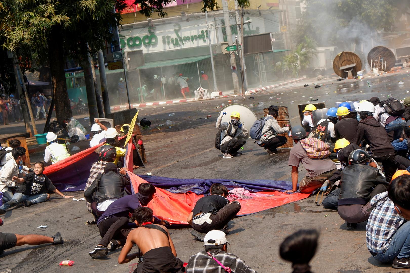 الأمم المتحدة: 54 قتيلا على الأقل منذ بدء المظاهرات ضد الانقلاب في ميانمار