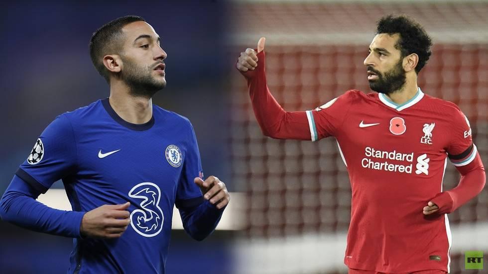 الثنائي العربي صلاح وزياش وجها لوجه على ملعب