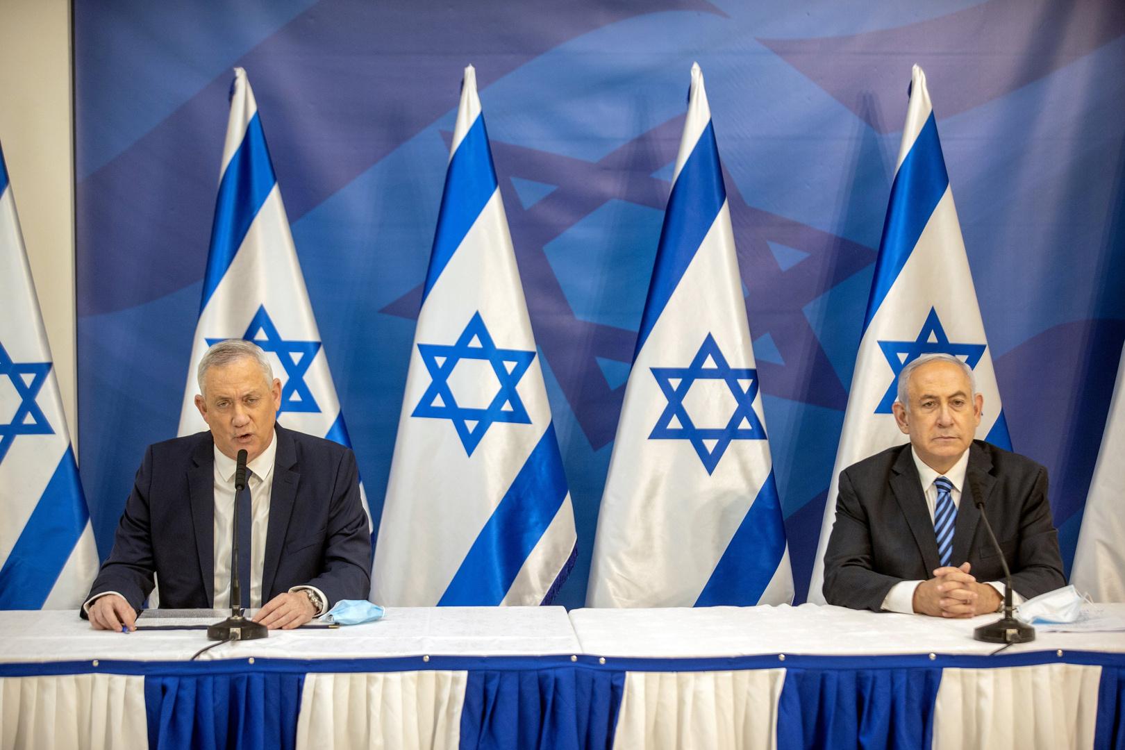 ئيس الوزراء الإسرائيلي، بنيامين نتنياهو، ووزير الدفاع، بيني غانتس