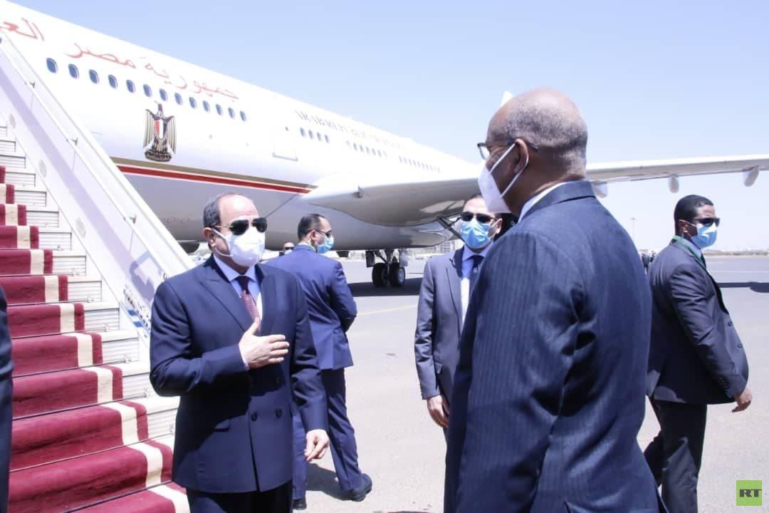 صور زيارة السيسي للسودان الأولى بعد تشكيل مجلس السيادة الانتقالي