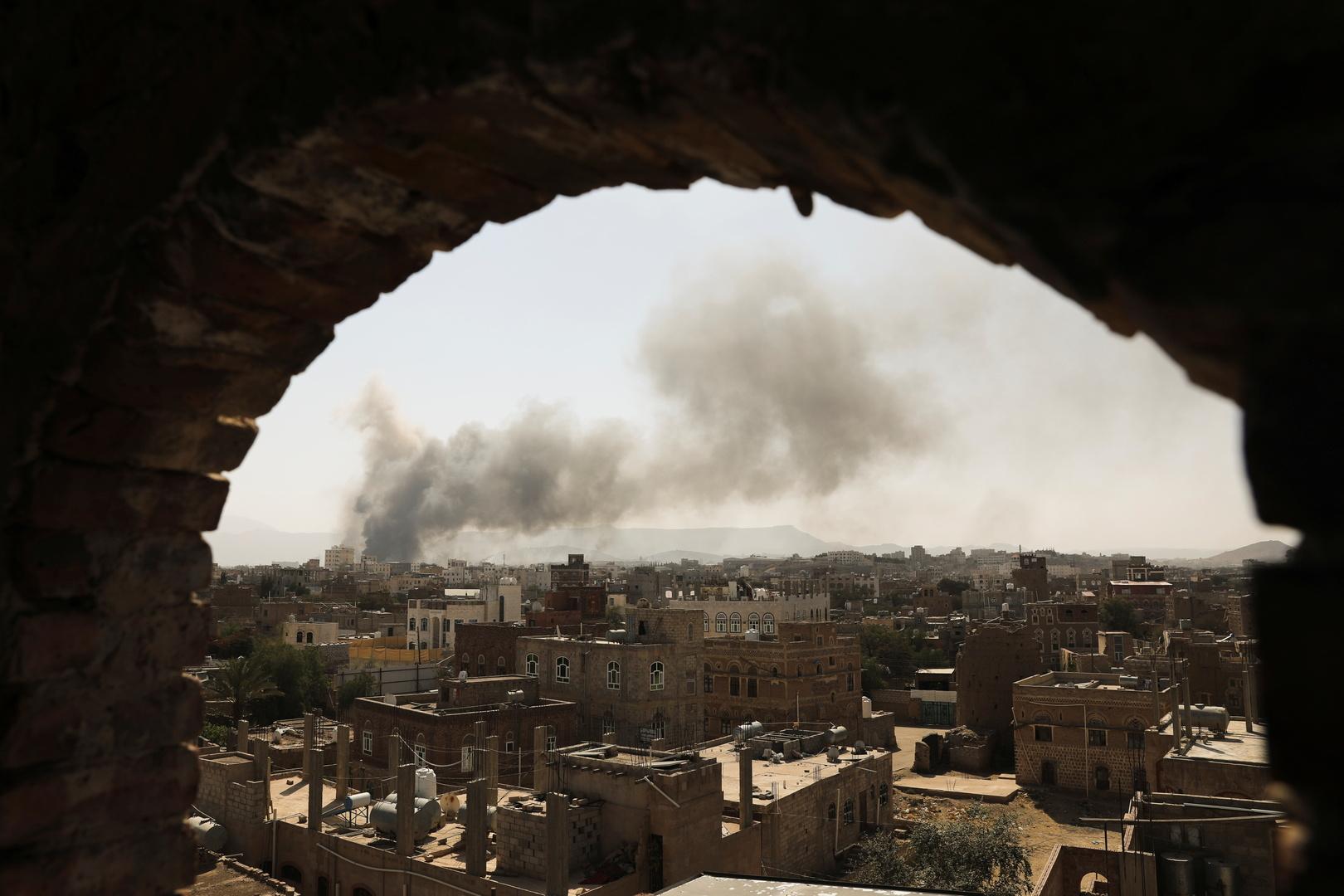 التحالف العربي يؤكد شن غارات على صنعاء ضمن