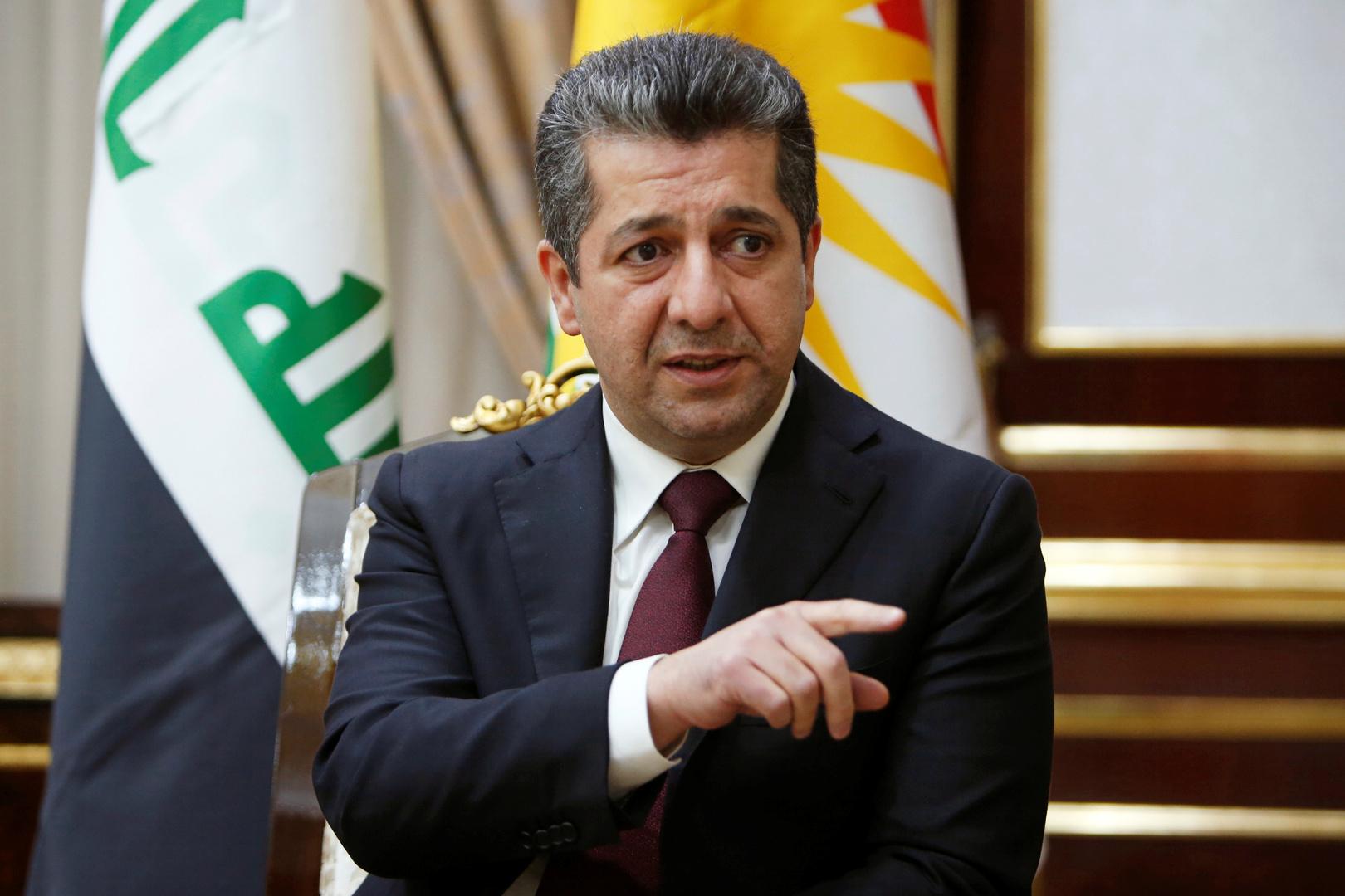 رئيس وزراء إقليم كردستان العراق مسرور بارزاني