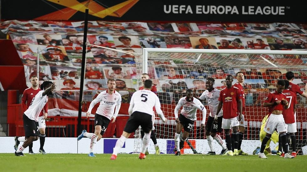 الدوري الأوروبي.. ميلان يفرض التعادل على مانشستر يونايتد في الوقت القاتل (فيديو)