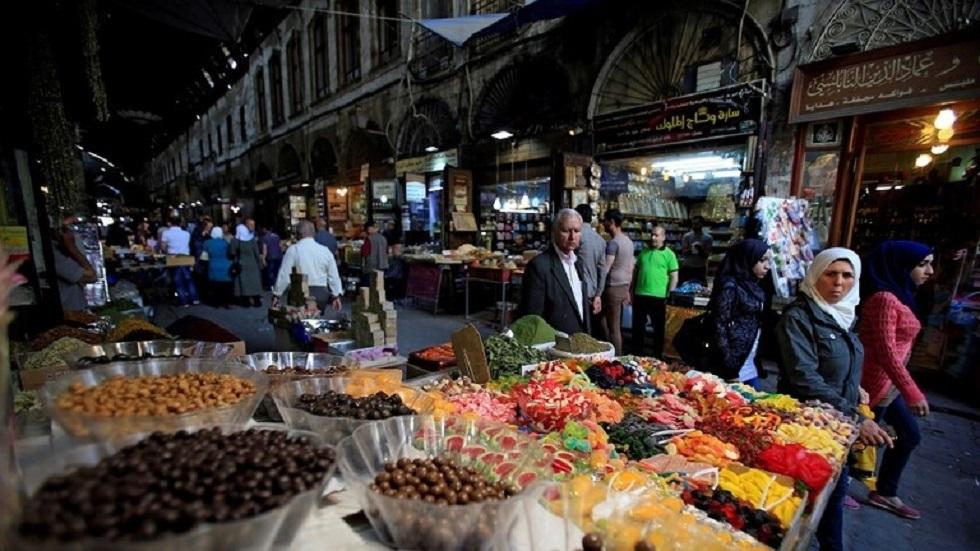 أحد أسواق دمشق في سوريا - أرشيف