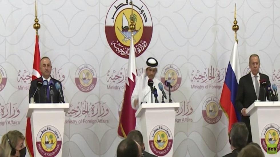 تنسيق روسي تركي قطري بشأن سوريا