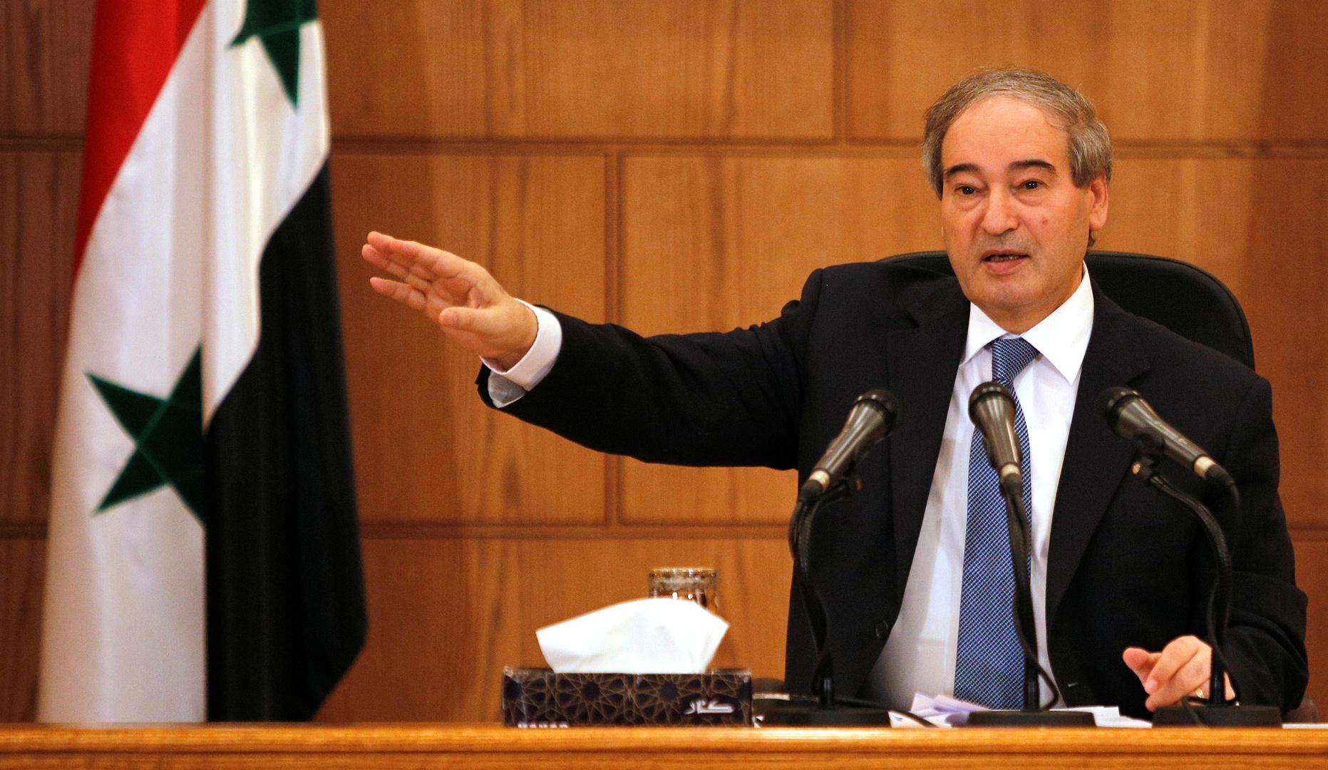 فيصل المقداد وزير الخارجية السوري