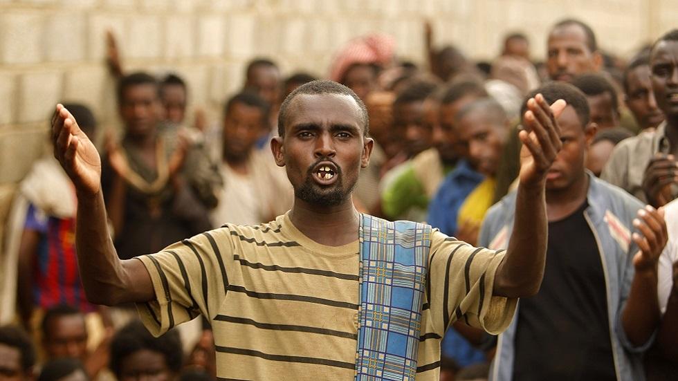 مهاجرون إثيوبيون في اليمن (صورة أرشيفية)