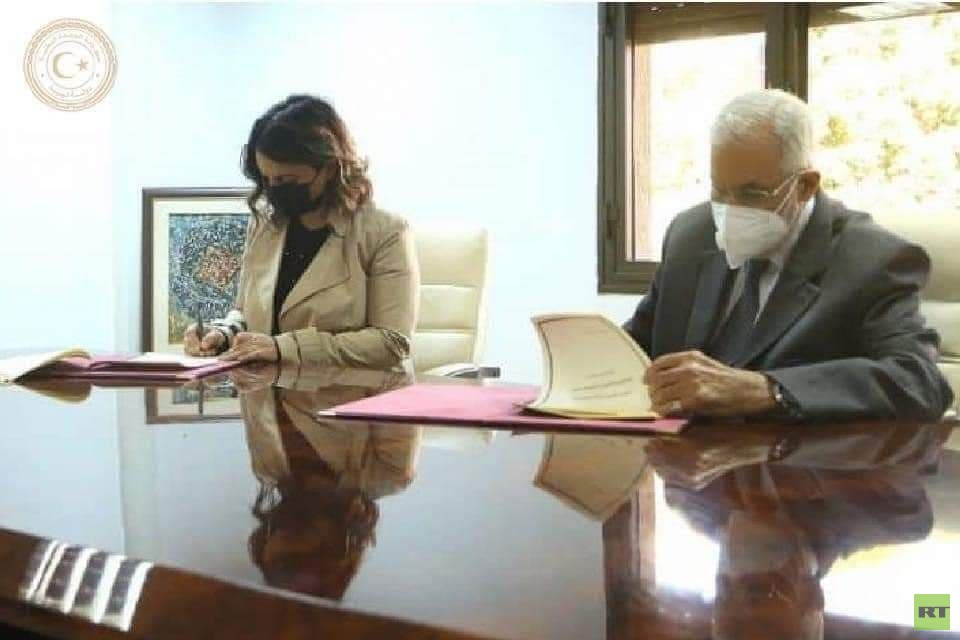 The first Libyan woman to officially receive the post of Minister of Foreign Affairs of her country