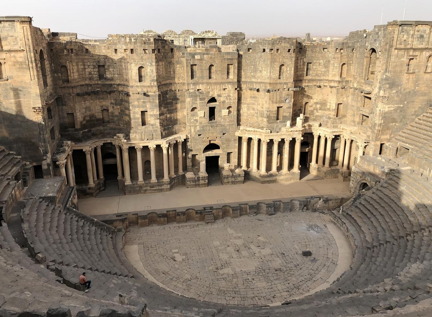 المسرح الروماني في مدينة بصرى السورية