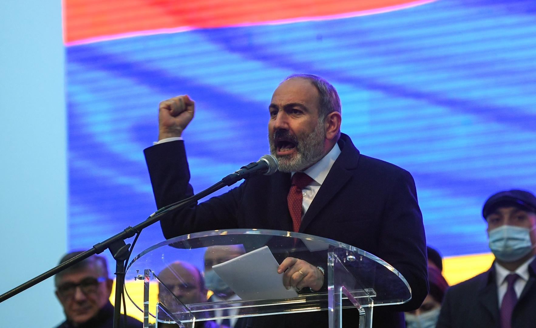 باشينيان: الانتخابات البرلمانية المبكرة في أرمينيا ستجري في 20 يونيو القادم