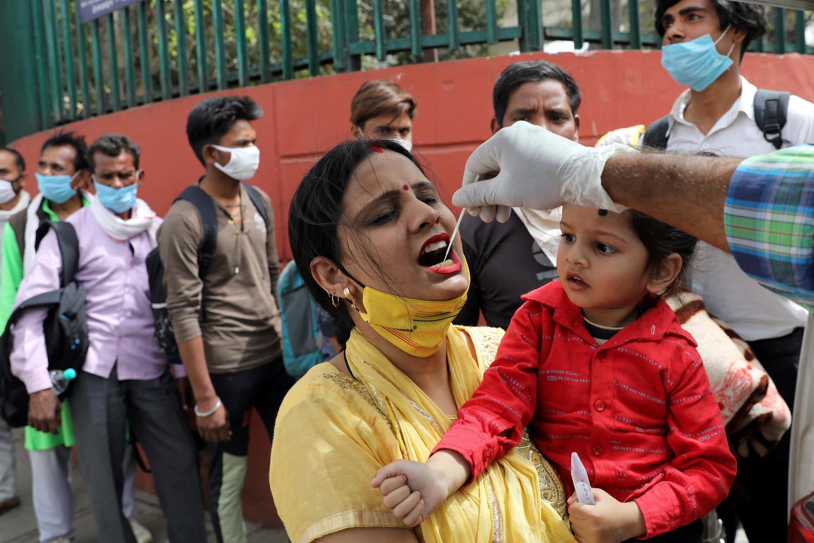 الهند تسجل أعلى مستوى إصابات بكورونا في 4 أشهر
