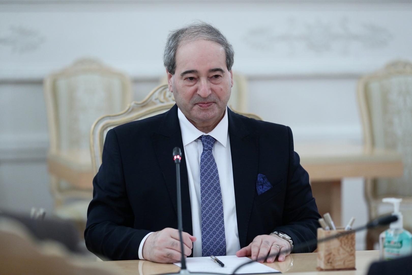 وزير الخارجية السوري، فيصل المقداد
