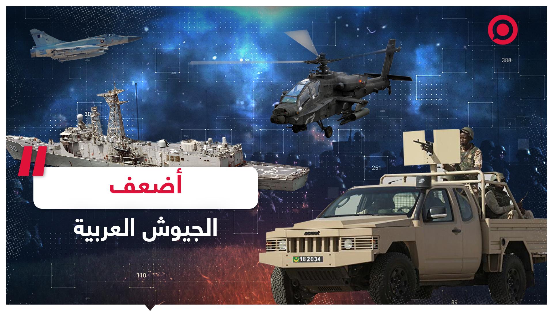 أضعف الجيوش العربية