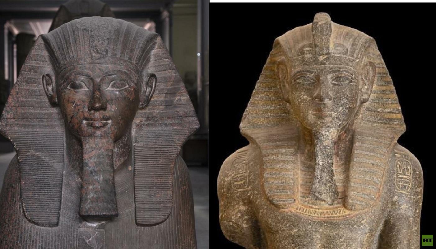 تمثالان للملكة حتشبسوت والملك تحتمس الثالث