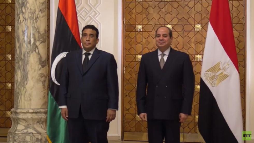 السيسي يؤكد للمنفي دعم مصر للسلطات الليبية الجديدة في مساعيها لحل الأزمة واستعادة الدولة