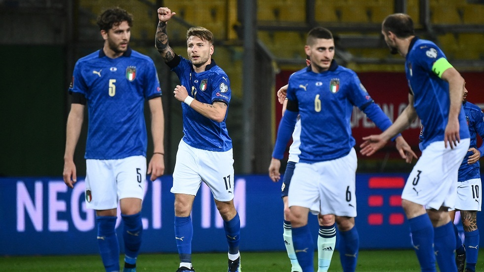 إيطاليا تتغلب على إيرلندا الشمالية بهدفين نظيفين في تصفيات مونديال 2022 (فيديو)