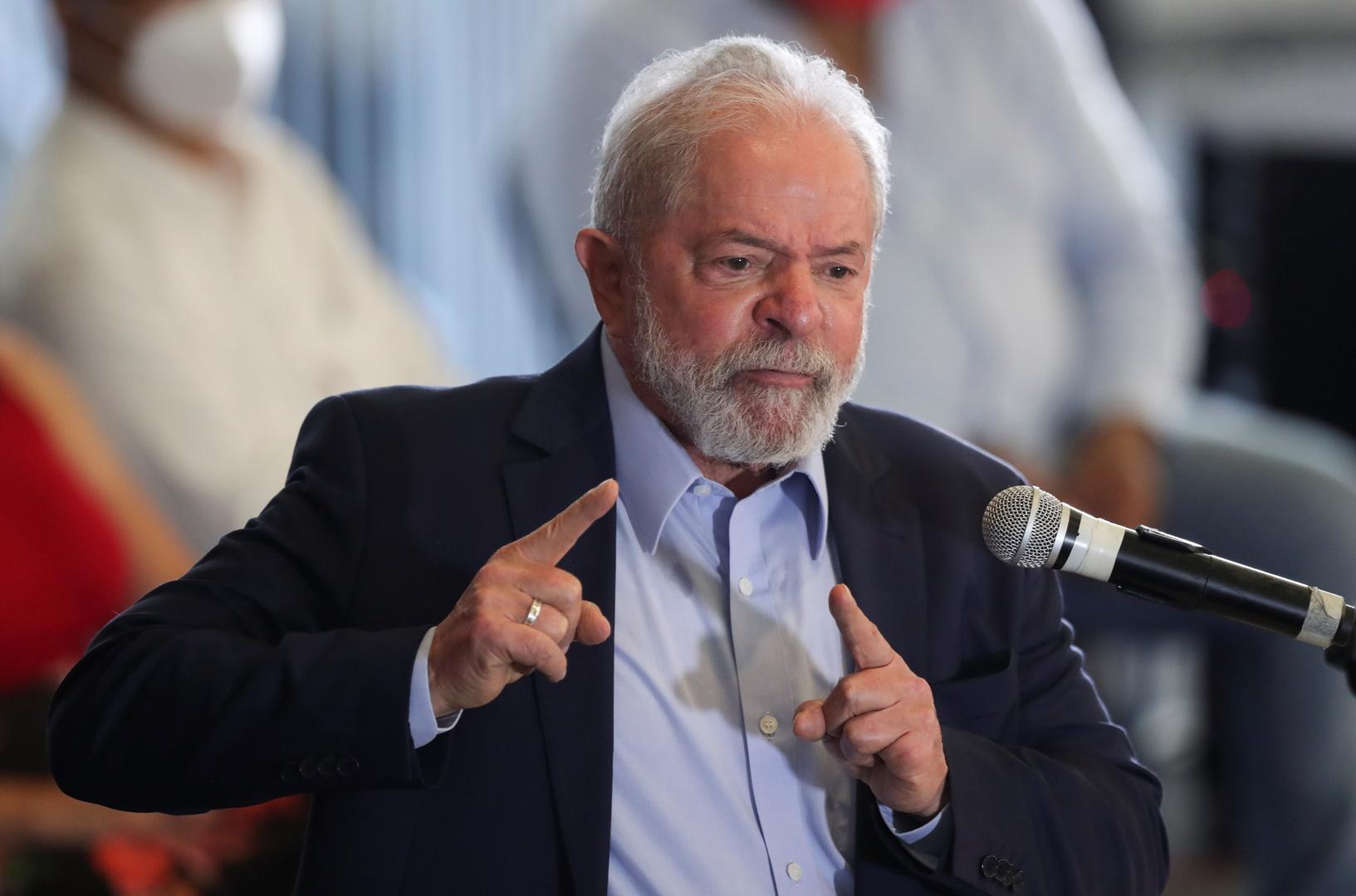 الرئيس البرازيلي السابق لويز إيناسيو لولا دا سيلفا