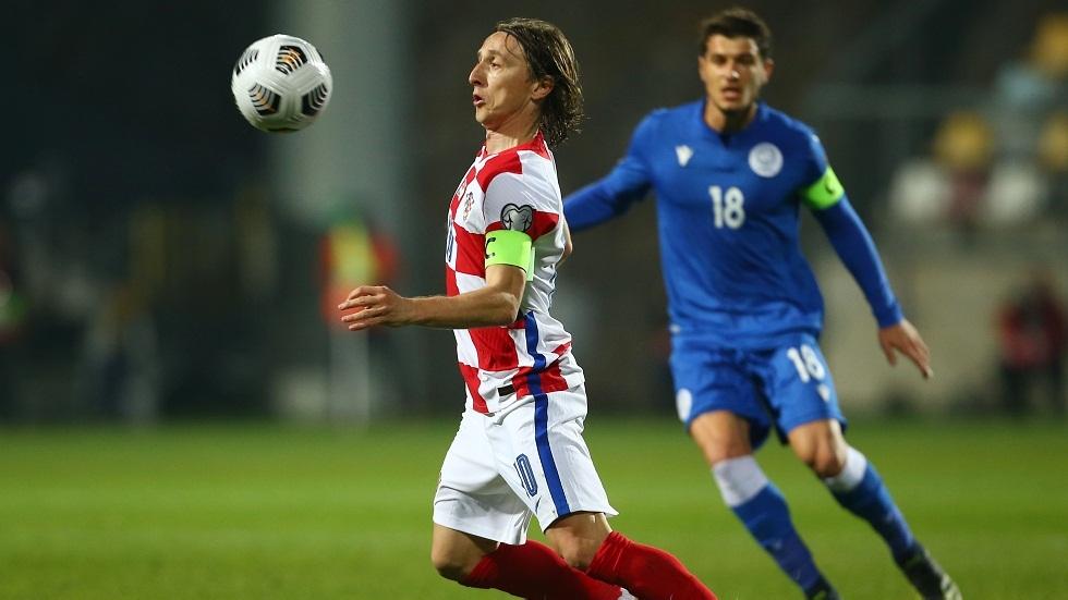 كرواتيا تهزم قبرص في مباراة مودريتش القياسية (فيديو)