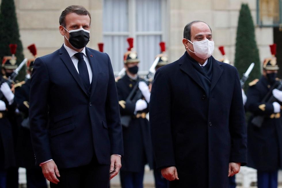 الرئيس عبد الفتاح السيسي والرئيس الفرنسي إيمانويل ماكرون