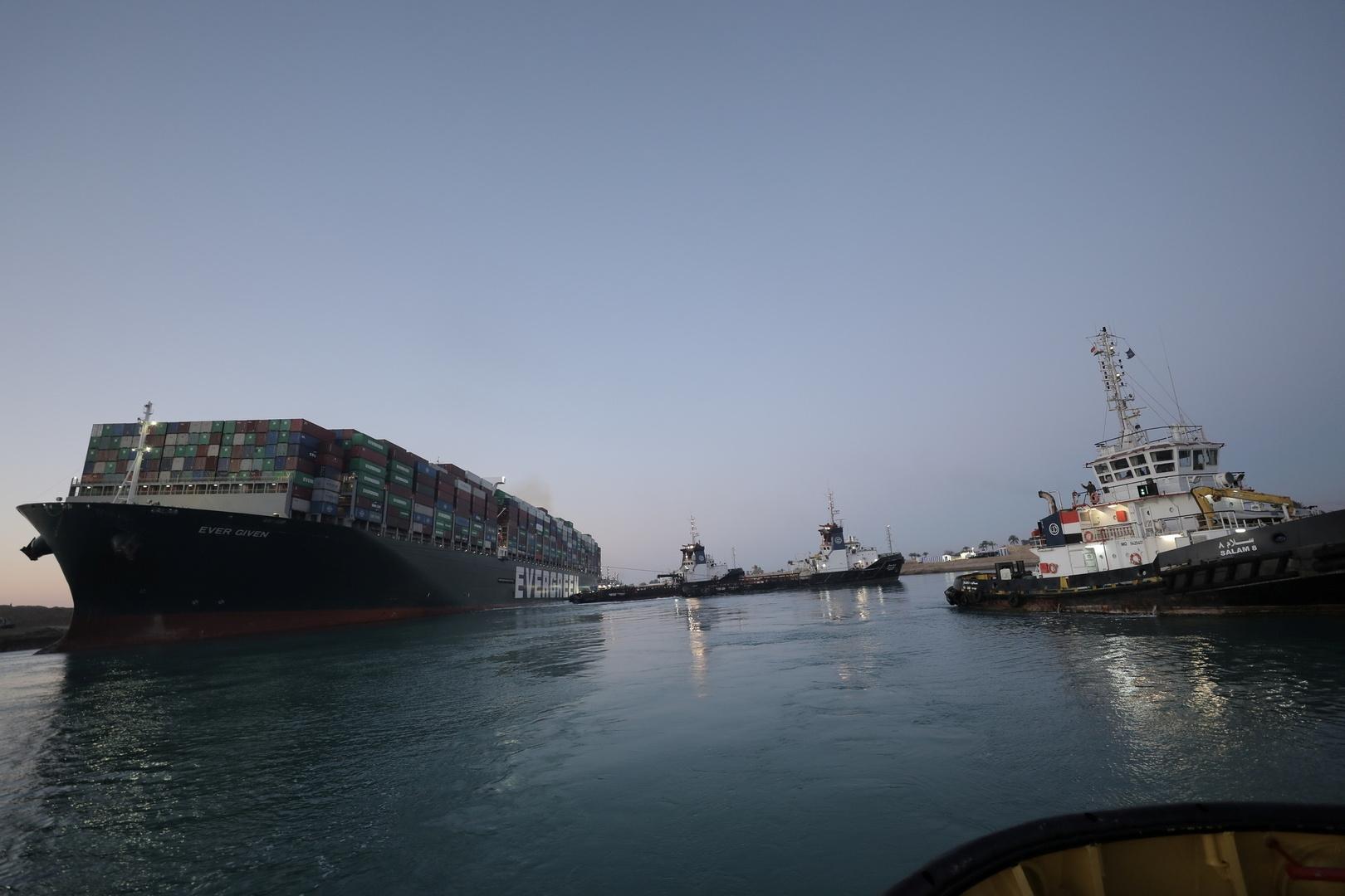 انتهاء أزمة جنوح سفينة