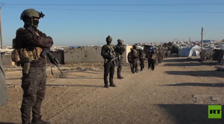 عملية تفتيش واسعة في مخيم الهول شمالي سوريا