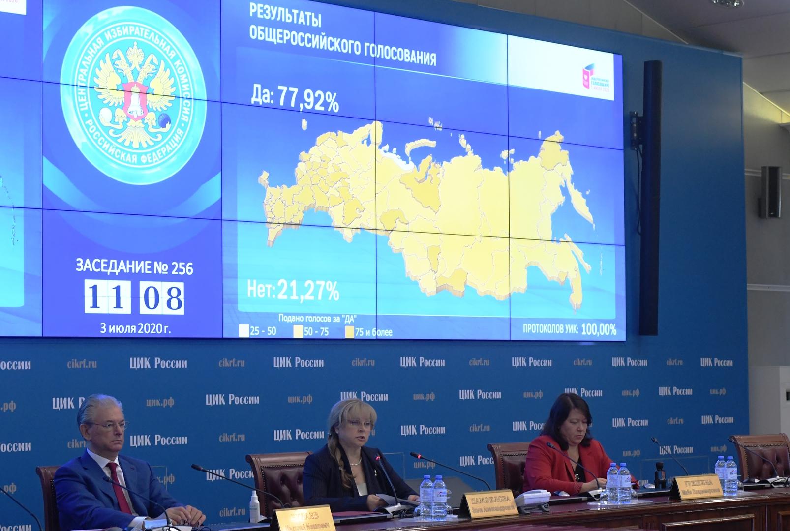 لجنة الانتخابات المركزية الروسية (صورة من الأرشيف)