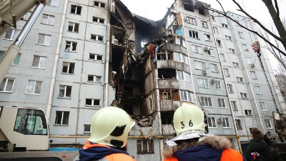 انهيار مبنى في فولغوغراد بسبب تسرب للغاز - أرشيف