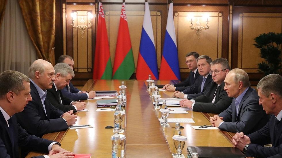 محادثات بين الرئيسين الروسي فلاديمير بوتين والبيلاروسي ألكسندر لوكاشينكو