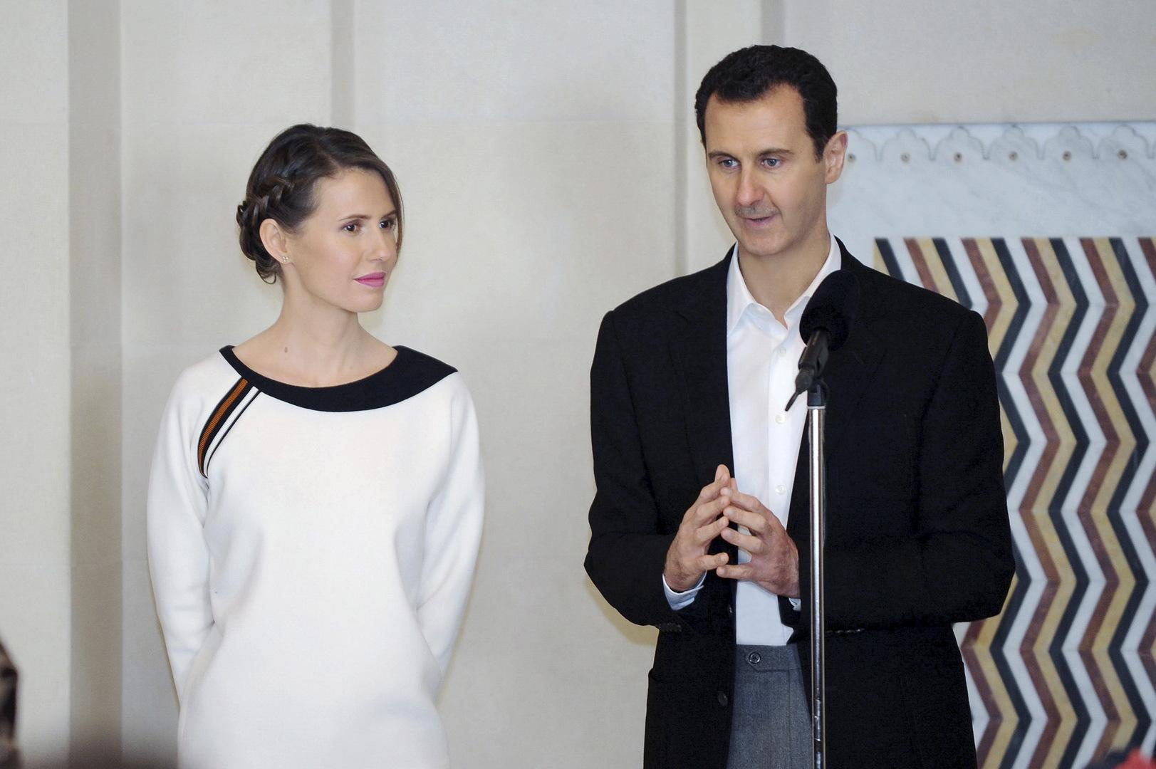 المسحة الأخيرة سلبية.. الرئاسة السورية تعلن انتهاء العزل الصحي للأسد وعقيلته بعد تعافيهما من كورونا
