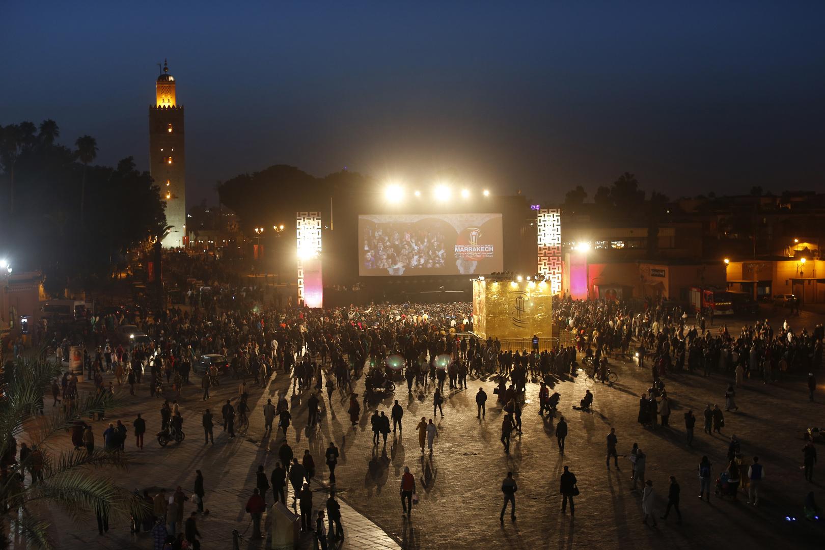 ساحة جماع الفنا في مراكش بالمغرب