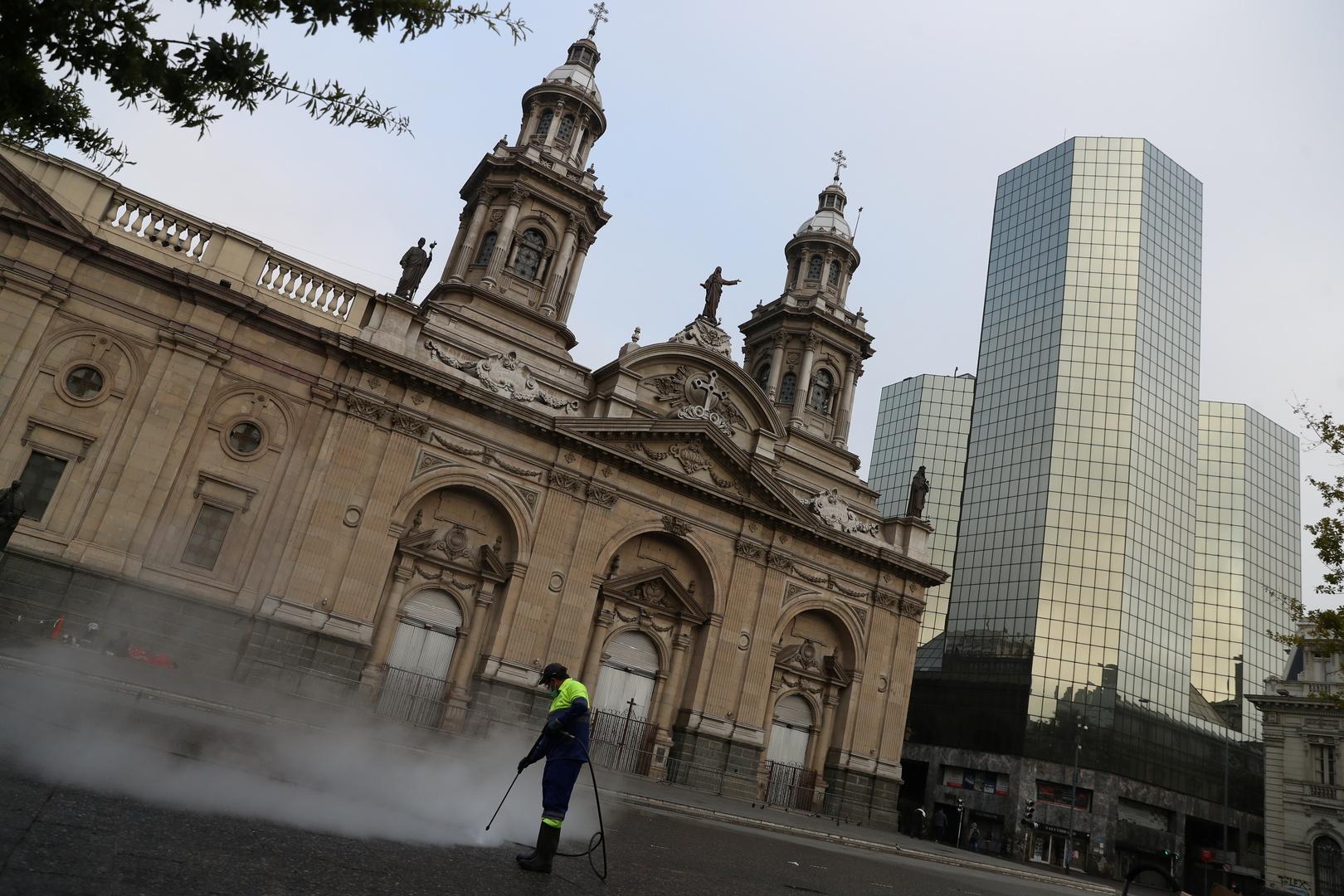 عاصمة تشيلي سانتياغو في زمن جائحة فيروس كورونا.