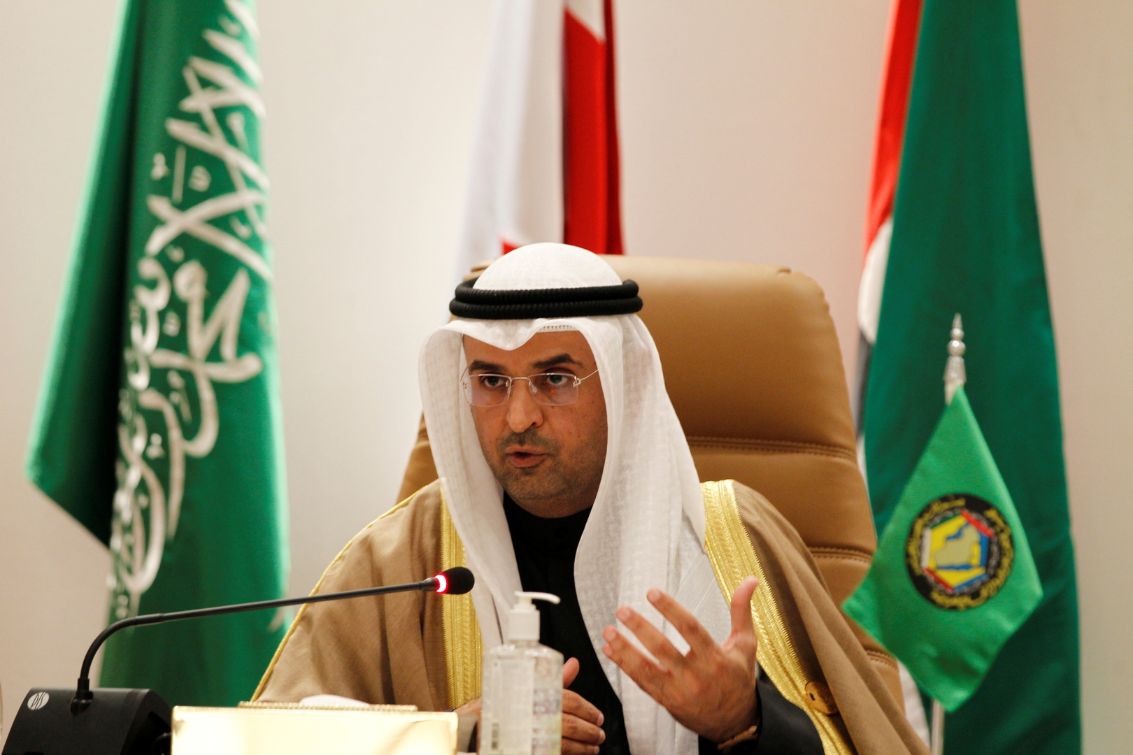 الأمين العام لمجلس التعاون لدول الخليج العربية، نايف فلاح مبارك الحجرف.