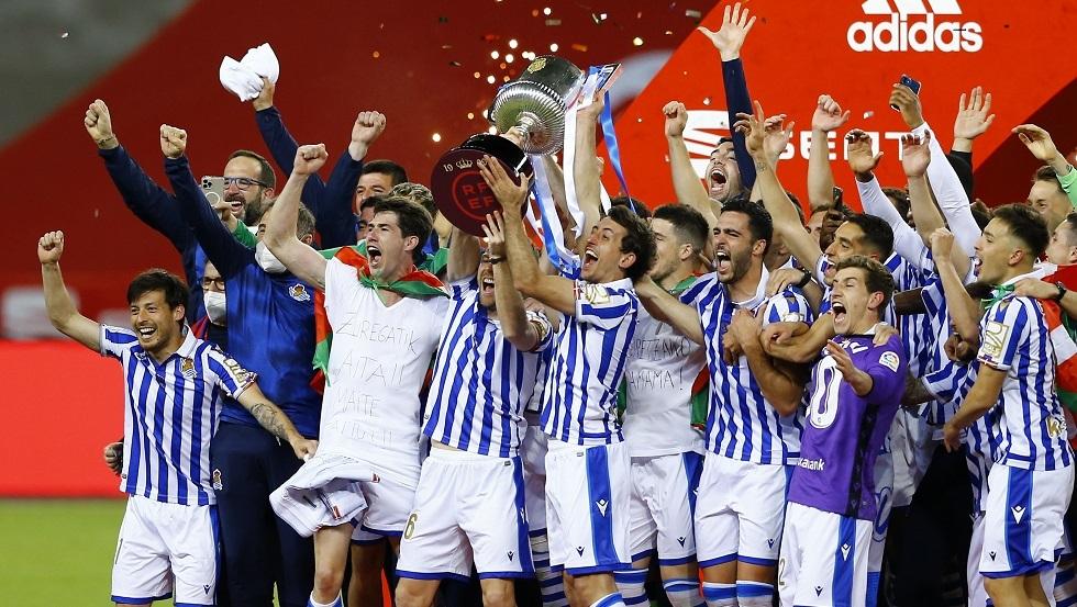 ريال سوسييداد بطلا لكأس إسبانيا لأول مرة منذ 34 عاما (فيديو)