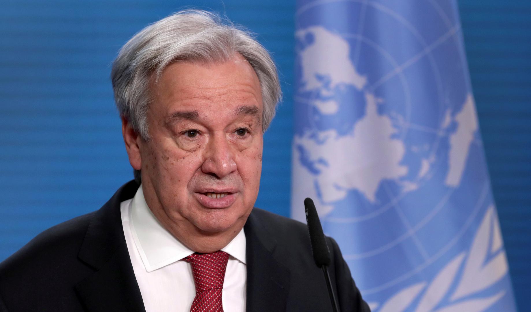 الأمين العام للأمم المتحدة يحذر من خطورة