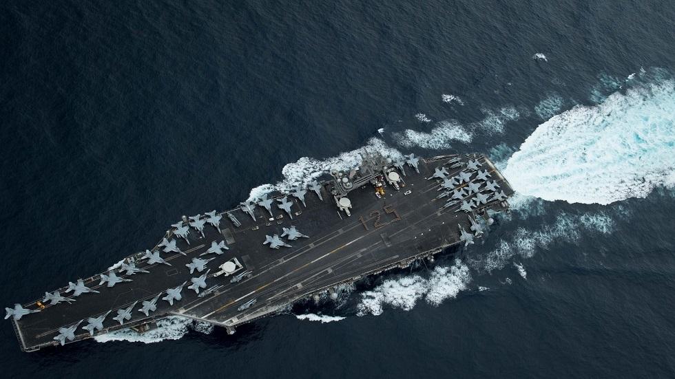 البحرية الأمريكية توضح تواجد حاملة الطائرات