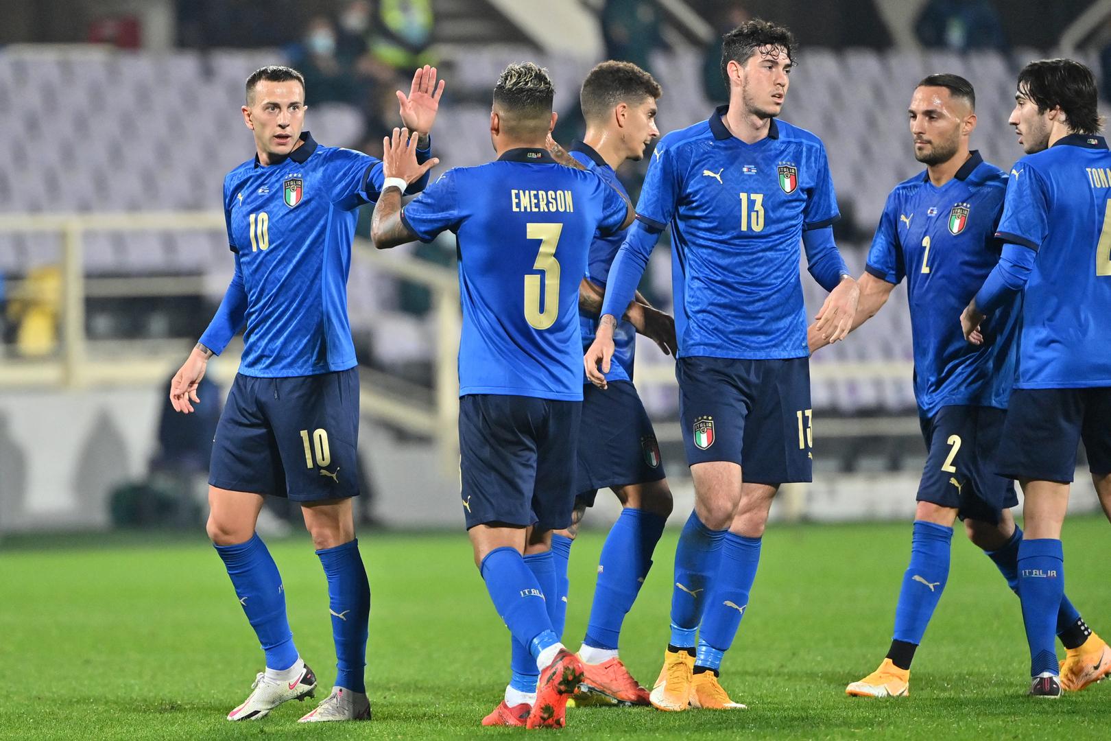 الكشف عن سادس لاعب في منتخب إيطاليا يصاب بكوفيد-19