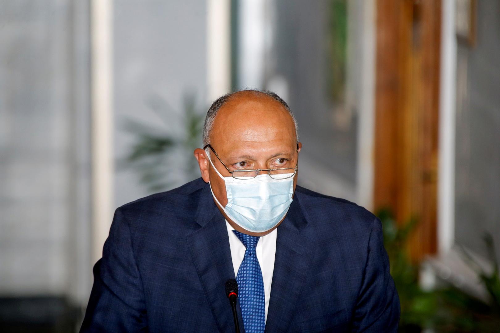 سامح شكري: مصر ستتحرك إذا لحق بها أي ضرر مائي جراء سد النهضة ولدينا سيناريوهات مختلفة