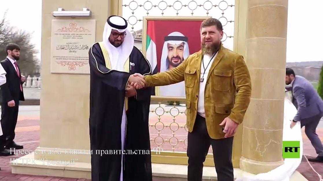 مشاهد جديدة من مراسم إطلاق اسم ولي عهد أبو ظبي على أحد شوارع العاصمة الشيشانية