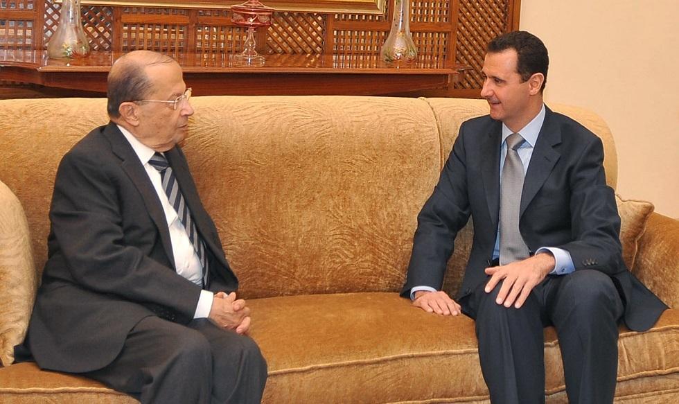 لبنان يكشف عن اتصال بين عون والأسد بشأن ترسيم الحدود البحرية