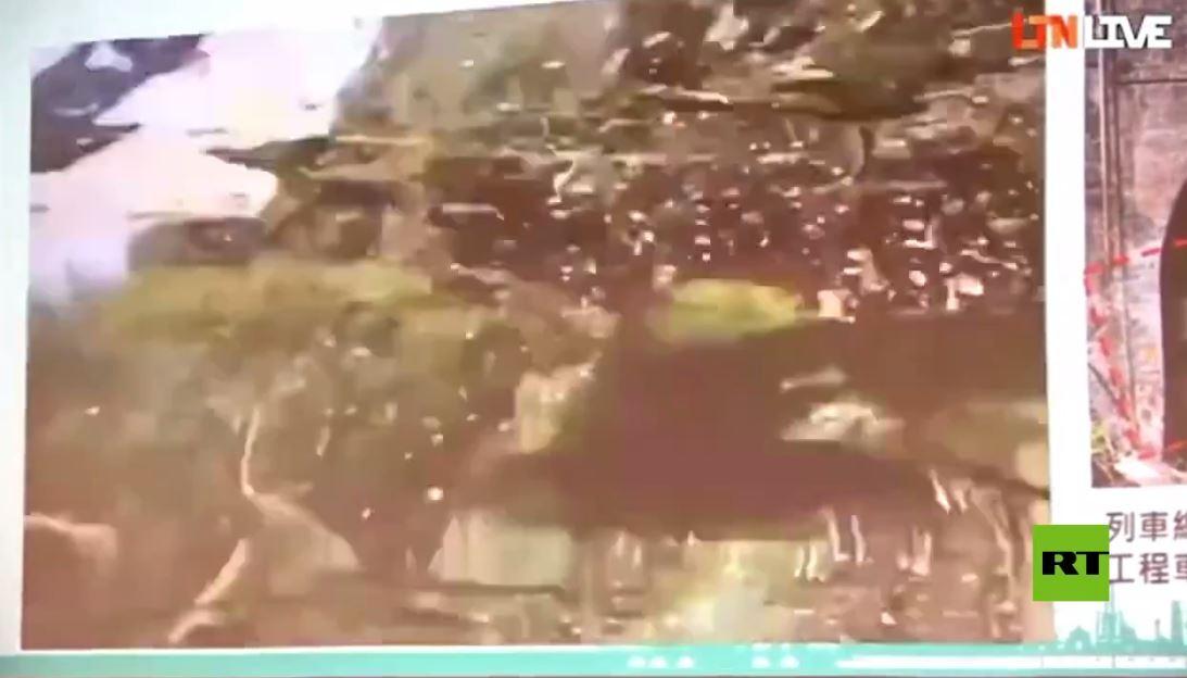 فيديو يظهر لحظة خروج القطار المأساوي عن القضبان في تايوان