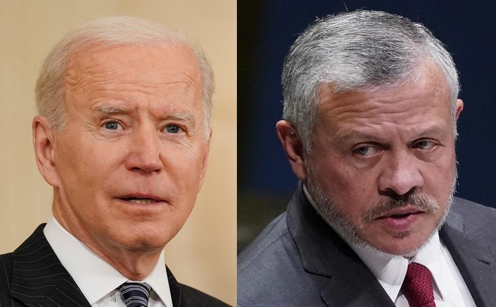 بايدن يعرب في مكالمة مع الملك عبد الله الثاني عن تضامن الولايات المتحدة مع الأردن